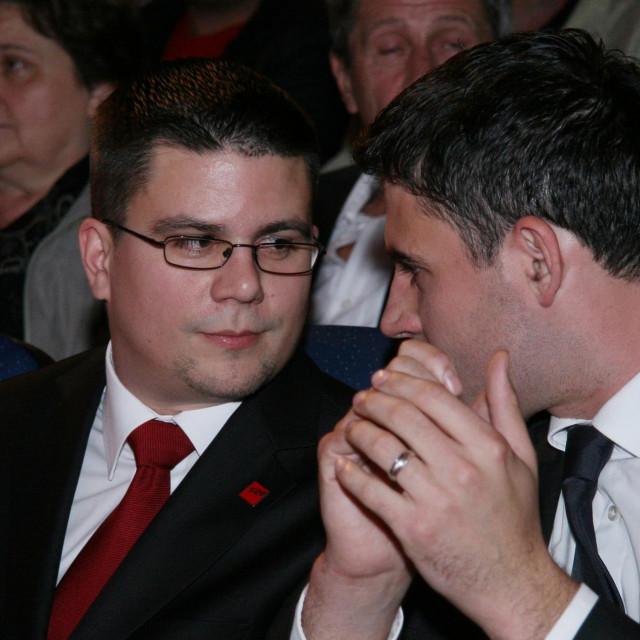 Davor Bernardić i Domagoj Hajduković<br /> <br />