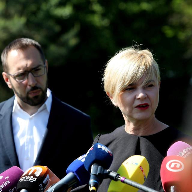 Tomislav Tomašević i Sandra Benčić