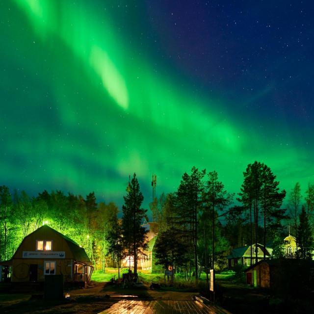 Aurora borealis na Arktiku