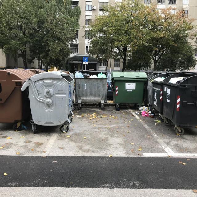 Kontejneri zauzimaju dragocjena parkirališna mjesta u Štefanićevoj
