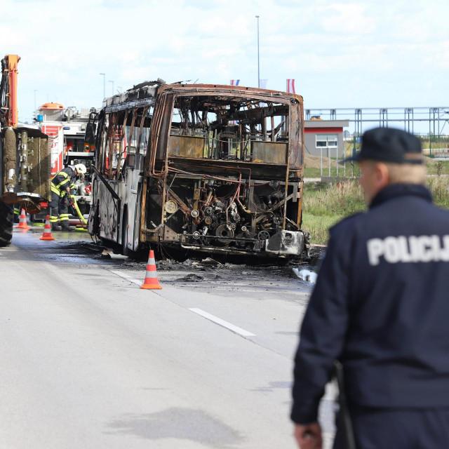 Požar autobusa kod Varaždina