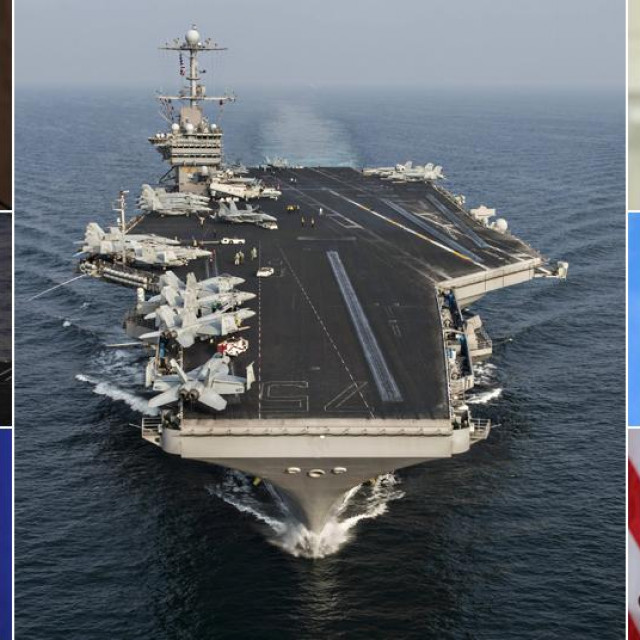 ajatolah Ali Khamenei, američki F-18 Hornet, iranski predsjednik Ebrahim Raisi, američki nosač aviona USS Harry S. Truman, američki predsjednik Joe Biden, izraelski borbeni avion F-35 Adir, američki državni tajnik Antony Blinken
