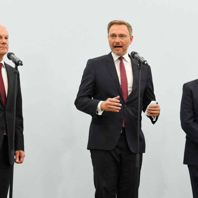 Olaf Scholz, Christian Lindner i Norbert Walter-Borjans