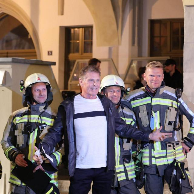 David Hasselhoff na snimanju serije 'Ze Network'