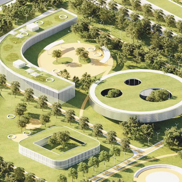 """Zelene linije i puno svjetla: Plan novog centra predviđa uvođenje pojedinih multi-funkcionalnih """"otoka"""", gradskih insula koje se redovito naslanjaju na zelene linije. Svi objekti koji se grade ili prenamjenjuju trebali bi imali inserte visokog zelenila i mnogo prirodnog svjetla"""