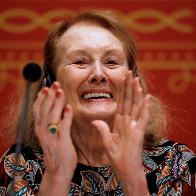 French writer Annie Ernaux, awarded with the 2019 Formentor Prix, speaks during the Guadalajara International Book Fair, in Guadalajara, Mexico, on December 4, 2019.,Image: 486417019, License: Rights-managed, Restrictions:, Model Release: no, Credit line: Ulises Ruiz/AFP/Profimedia