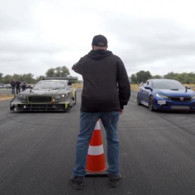 Bentley Continental GT3 'Pikes Peak' vs Honda Civic Type R
