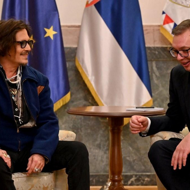 Johnny Depp i Aleksandar Vučić