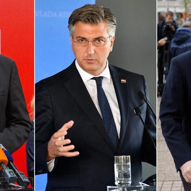 Peđa Grbin, Andrej Plenković, Tomislav Tomašević