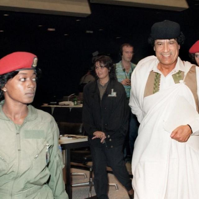 Moamer Gadafi na summitu nesvrstanih 1989. u Beogradu