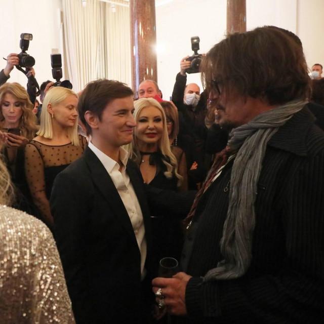 Ana Brnabić i Johnny Depp