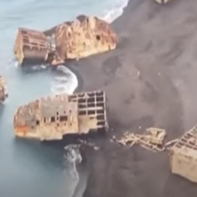 Olupine brodova iz bitke za Iwo Jimu