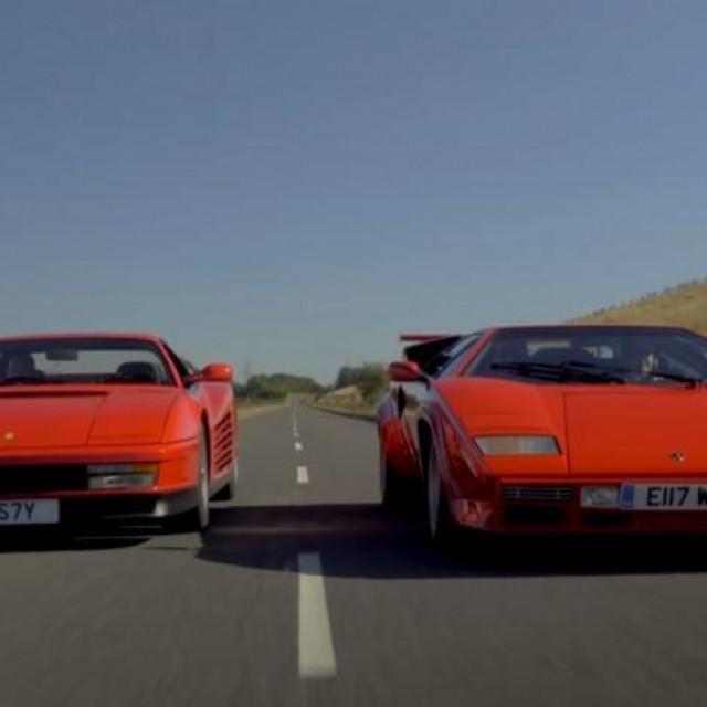 1988 Ferrari Testarossa i 1986 Lamborghini Countach LP 5000QV