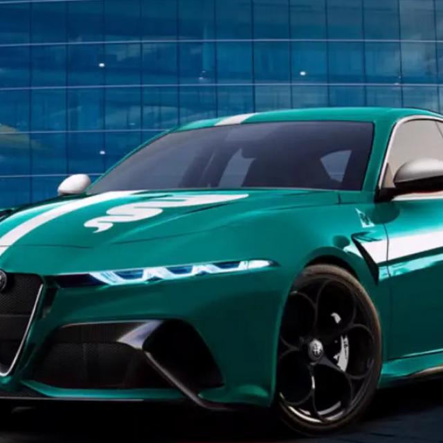 Render Alfa Giulia redizajn
