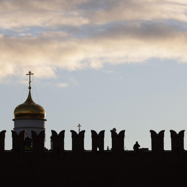 Jedan od oštećenih merlona na zidinama Kremlja