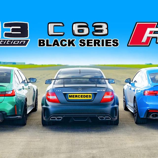 BMW M3 Competition, Mercedes C63 AMG Black Series i Audi RS5 Sportback