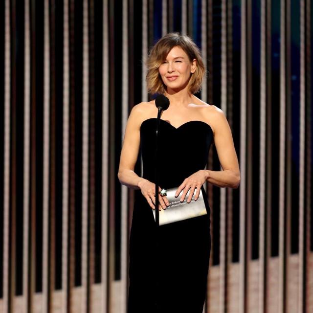 Renée Zellweger na Golden Globe Awards u veljači 2021.