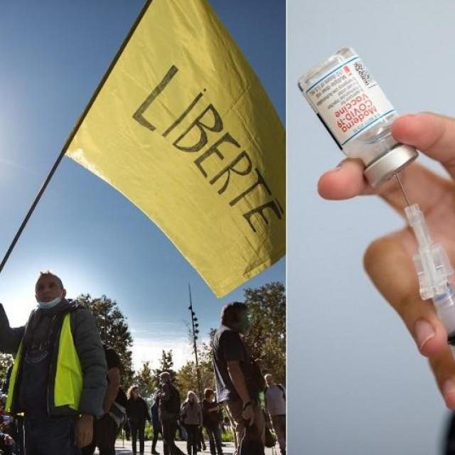 Cijepljenje i protesti protiv cijepljenja i covid potvrda u svijetu