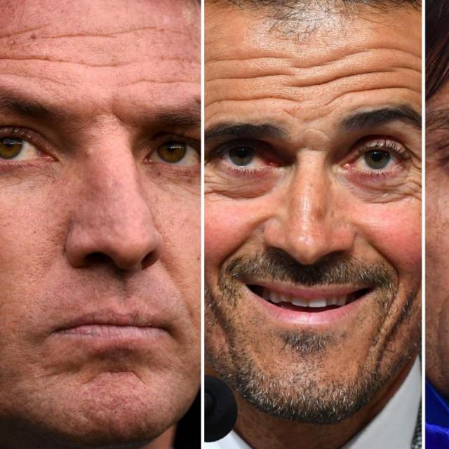 Erik Ten Hag, Brendan Rodgers, Luis Enrique, Antonio Conte i Zinedine Zidane