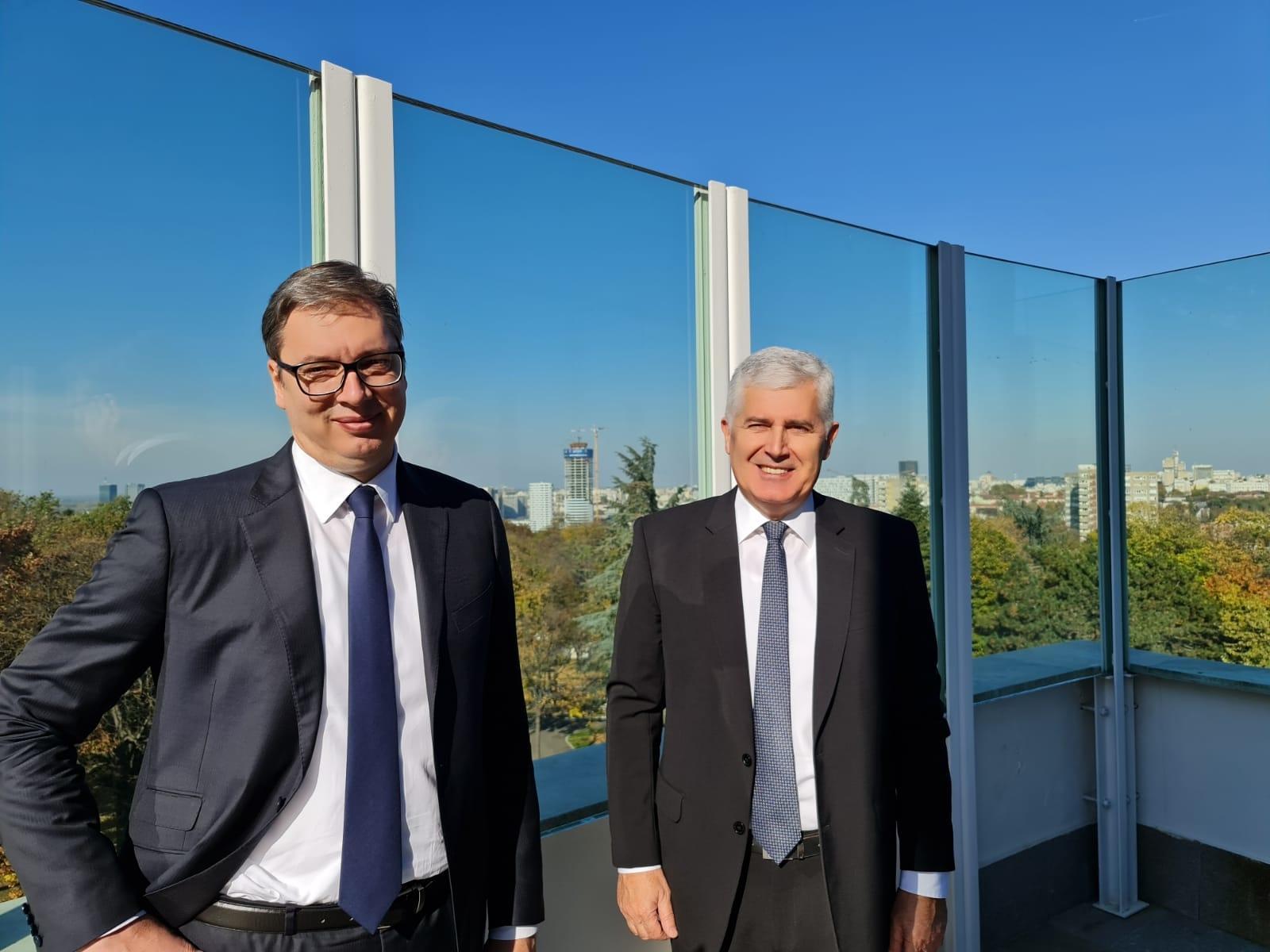 Vučić i Čović: Konstitutivni narodi u BiH samo konsenzusom mogu odlučiti o budućnosti