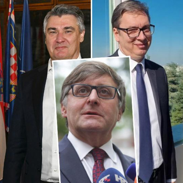 Milorad Dodik, Zoran Milanović, Matthew Palmer (u sredini), Aleksandar Vučić i Dragan Čović